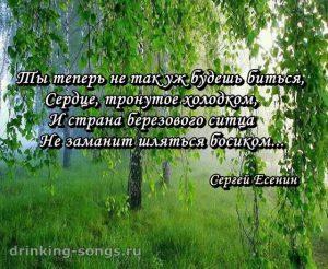 текст романса «Не жалею, не зову, не плачу»