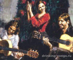 две гитары за стеной жалобно заныли текст романса