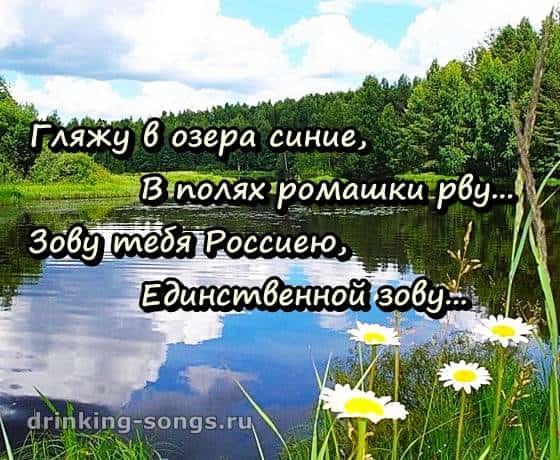 Текст песни гляжу в озёра синие в полях ромашки рву