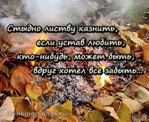 текст песни листья жгут