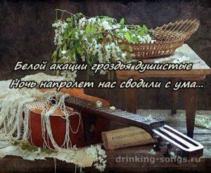 романс белой акации гроздья душистые текст