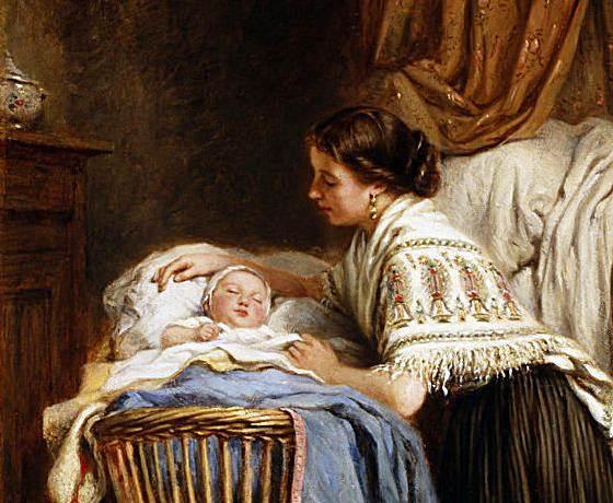 Поздравление маме над колыбелью стояла